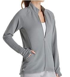 Adidas Climalite Essentials Textured Full Zip Jacket 123Z