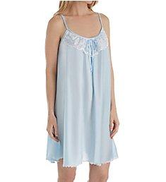 Amanda Rich Spaghetti Strap Lace Trim Knee Length Gown 165-SH