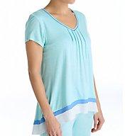 Anne Klein Montauk Short Sleeve Top 8410492