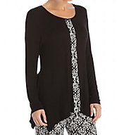 Anne Klein Holiday Luxe Long Sleeve Top 8510465