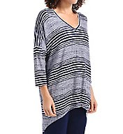 Anne Klein Escape 3/4 Sleeve French Terry Tunic Top 8510474