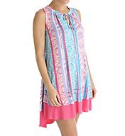 Anne Klein Summer Sleeveless Short Sleepshirt 8910491