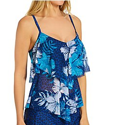 Beach House Hawaiian Hideaway Portia Mesh Tankini Swim Top H17068