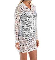 Beach House Lace Up and Go Indra Hooded Zip Up Cover Up H25662