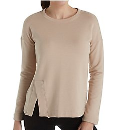Beyond Yoga Sedona Cozy Fleece Wide Hem Pullover Top CF7513