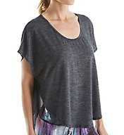 Beyond Yoga Cloud Heather Scalloped Tee CH7283