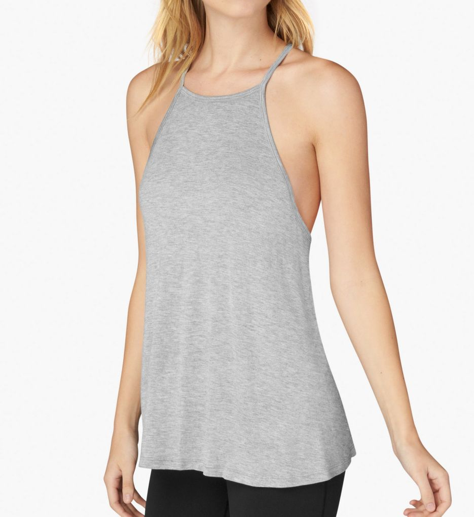 Beyond Yoga Slinky Modal Lay Low High Neck Racerback Tank LK4298