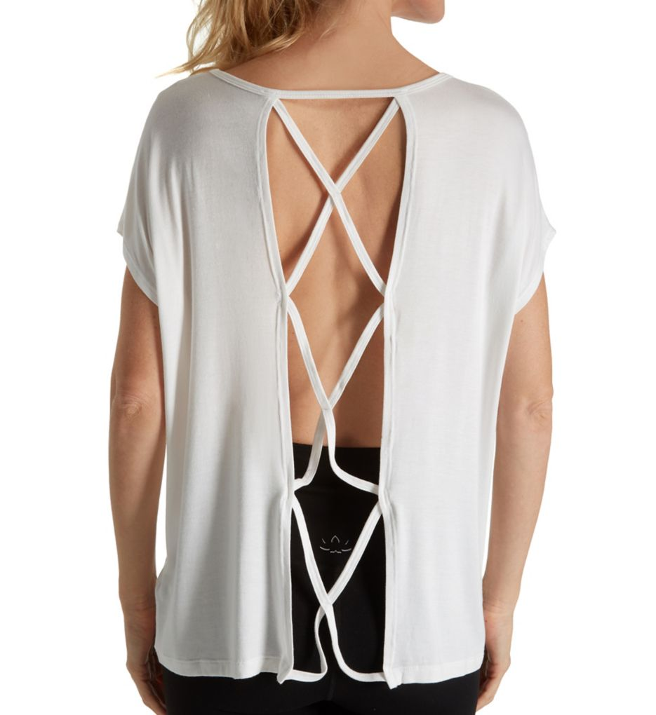 Beyond Yoga Slinky Modal Jersey Back Out Tee LK7356