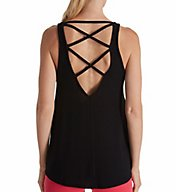 Beyond Yoga Modal Sweater Knit Cross My Heart Low Back Tank MD4250