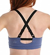 Beyond Yoga Stripe Supplex Shirred Crossback Bra SS8049