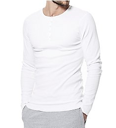 Bread and Boxers Slim Fit Organic Cotton Long Sleeve Henley 114