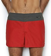 C-in2 Fashion Solid Woven 2 Inch Swim Trunk 2613