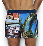 C-in2 Tropical Print Woven 2 Inch Swim Trunk 2614