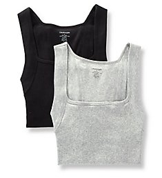 Calvin Klein Square Cut Fashion Tanks - 2 Pack NB1719