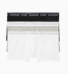 Calvin Klein CK One Cotton Stretch Low Rise Trunks - 3 Pack NB2406