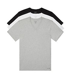 Calvin Klein Cotton Classics V-Neck T-Shirts - 3 Pack NB4012