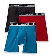 Champion Cotton Performance Long Boxer Briefs - 3 Pack CHCL