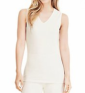 Cuddl Duds Softwear Lace Edge V-Neck Tank 8217535