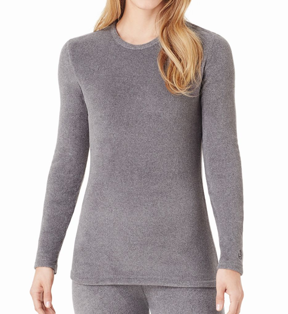 Cuddl Duds Fleecewear Stretch Long Sleeve Crew Neck Shirt 8419665