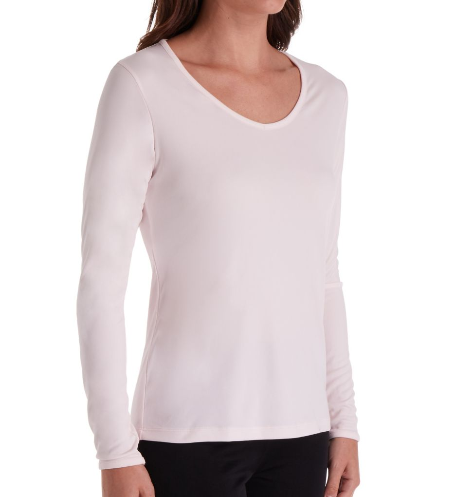 Cuddl Duds Climatesmart Long Sleeve V-Neck Shirt 8519641