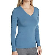 Cuddl Duds Softwear with Stretch Long Sleeve V-Neck Shirt 8919616