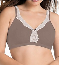 Curvy Couture Cotton Luxe Wire Free Bralette 1010