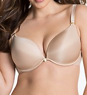Curvy Couture Essentials Sexy Plunge Convertible Underwire Bra 1027