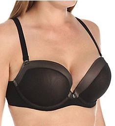 Curvy Couture Sexy Sheer Plunge Bra 1133