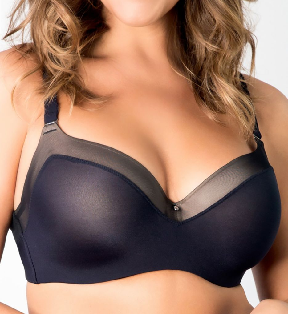 Curvy Couture Sexy Sheer Balconette Bra 1134
