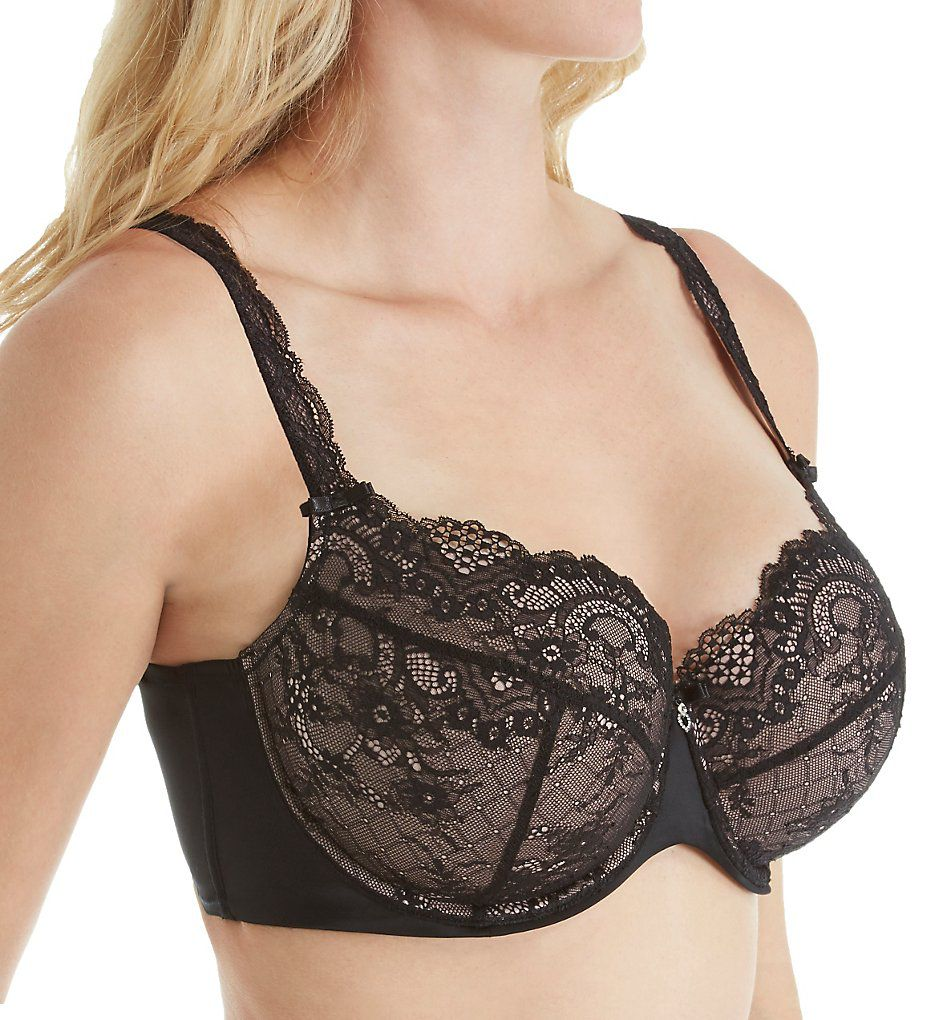 Curvy Couture Tulip All Over Lace Push Up Demi Bra 1165