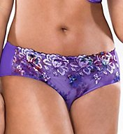 Curvy Couture Purple Passion Embroidered Hipster Panty 1192