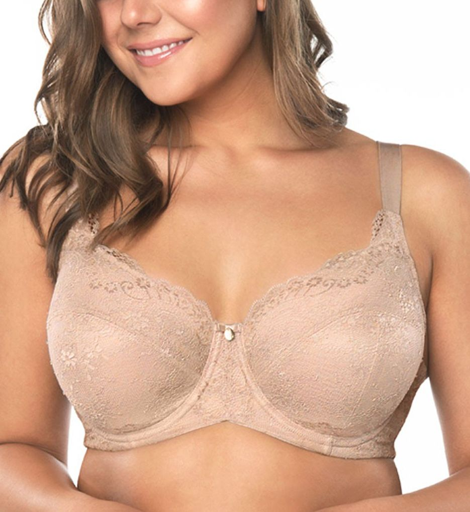 Curvy Couture Everyday Glamour Lacy Unlined Underwire Bra 1207