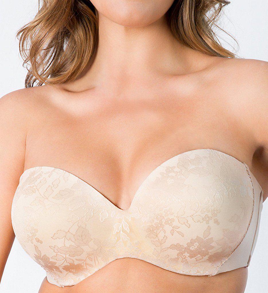 Curvy Couture Strapless Sensation Multi-Way Push Up Bra 1211