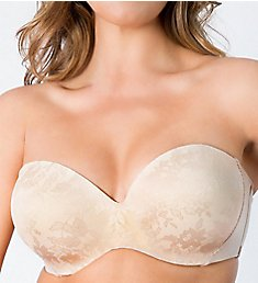 Curvy Couture Strapless Sensation 7-Way Uplift Bra 1211