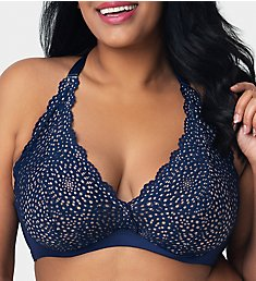 Curvy Couture Crochet Lace Underwire Bralette 1280