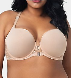 Curvy Couture Tulip Front Close Push Up T-Shirt Underwire Bra 1327