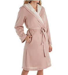 Donna Karan Sleepwear Pure Lux Hooded Robe D316936