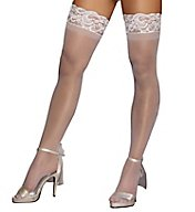 Dreamgirl Sheer Thigh High With Stay Up Silicone Lace Top 0005