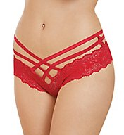 Dreamgirl Stretch Lace Criss Cross Panty 1412