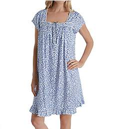 Eileen West 100% Cotton Jersey Cap Sleeve Short Nightgown 5019905