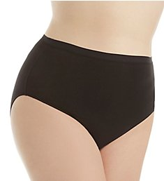 Elita Plus Size Cotton Hi-Cut Brief Panty 6043