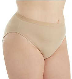 Elita Plus Size Microfiber Full Hi Cut Brief Panty 6142