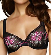 Felina Claudine Embroidered Semi-Demi Bra 130043