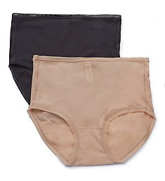 fine lines Pure Cotton Full Brief Panty - 2 Pack RFB34PK