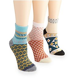 Free People Triple the Fun Ankle Sock - 3 Pack CP7199