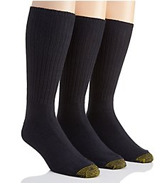 Gold Toe Heritage Cotton Fluffies Crew Socks - 3 Pack 633S