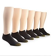 Gold Toe Cotton No Show Socks - 6 Pack 656F