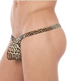 Gregg Homme Desire Leopard Print Snap Away Thong 140404
