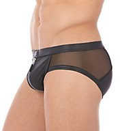 Gregg Homme Reckless Faux Leather Zipper Back Brief 140703