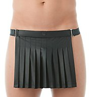 Gregg Homme Black 2.0 Faux Leather Backless Kilt 143204